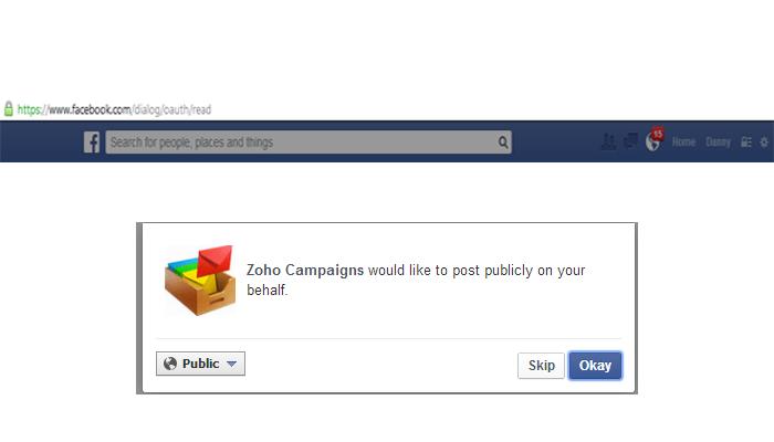 Face Book Integration